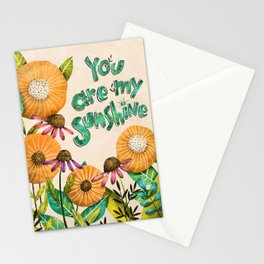 You are My Sunshine- Illustration Stationery Cards