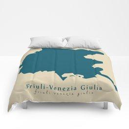 Modern Map - Friuli-Venezia Giulia region Italy Comforters