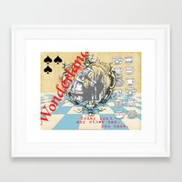 alice wonderland Framed Art Prints featuring Wonderland by TooShai Studios