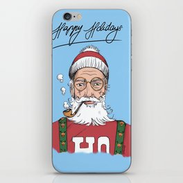 Hispter Santa Christmas Card iPhone Skin