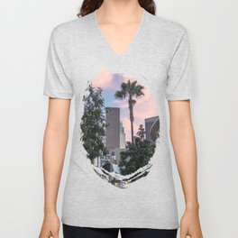 Palm City Sunset Unisex V-Neck