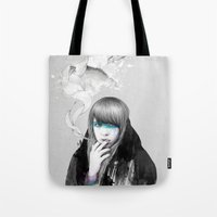 swan Tote Bags featuring Swan Love by Ariana Perez