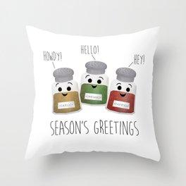 Season's Greetings | Garlic, Oregano & Paprika Throw Pillow