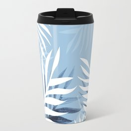 Tropical bliss - chambray blue Travel Mug