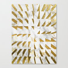 Marble and Gold Pattern #4 Canvas Print