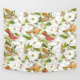Magnolia/ Birds Wall Tapestry