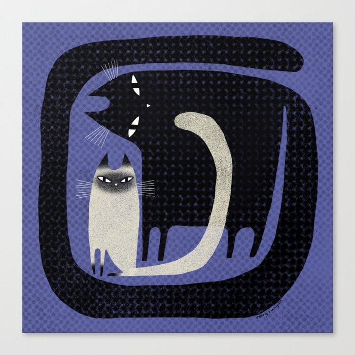 CONTRAST CATS Canvas Print