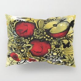 Abstract Acrylic Painting APPLES II Pillow Sham
