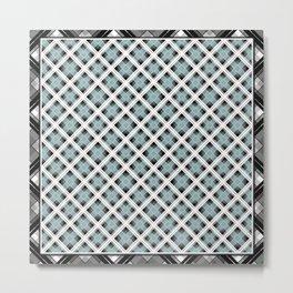 Tartan 1 blue , gray blue Metal Print