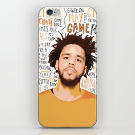 J Cole quote print / poster hand drawn type / typography iPhone Skin