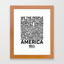 American Constitution Preamble Framed Art Print