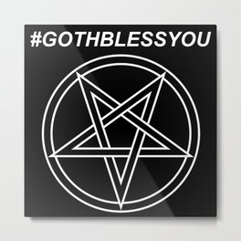 #GOTHBLESSYOU INVERTED Metal Print