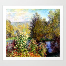 Claude Monet : A Corner of the Garden at Montgeron Art Print