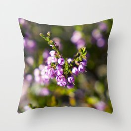 Calluna vulgaris Throw Pillow