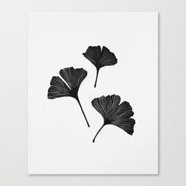 Ginkgo Biloba | Black Palette  Canvas Print