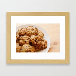Chocolate chip and pecan cookies Framed Art Print