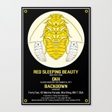 FortyTwo - Red Sleeping Beauty Gig Poster Canvas Print