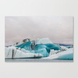 Iceberg in the glacial lagoon in Iceland - landscape photography Canvas Print