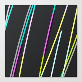 thin strips on black Canvas Print