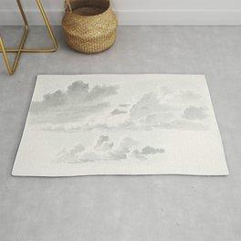 Wolkenstudies (cloud study) by Joseph August Knip (1777-1847) Rug
