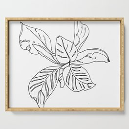 PLANT PORTRAITS - ORNATA PINSTRIPE - COOPER  AND COLLEEN Serving Tray