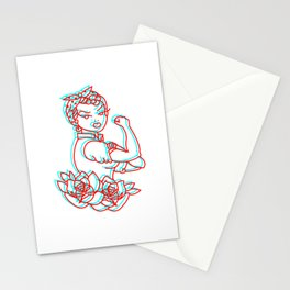 Feminism Classic Traditional tatto Stationery Cards