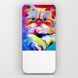Persian Cat Shirt - Gift For Cat Lovers iPhone Skin