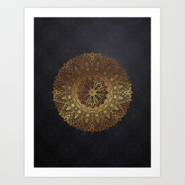 -A27- Original Heritage Moroccan Islamic Geometric Artwork. Art Print