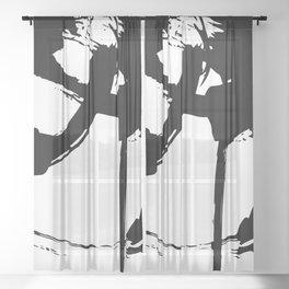 Brushstrokes No.15B by Kathy Morton Stanion Sheer Curtain