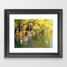 Autumn Mood at Lake Framed Art Print