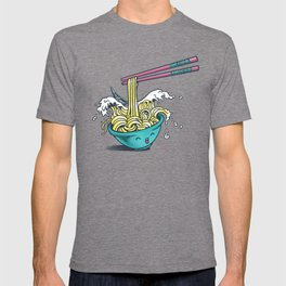 The Great Wave of Noodles with chopstick T-shirt