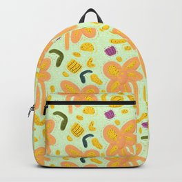 Candy flowers and easter pattern - light Backpack