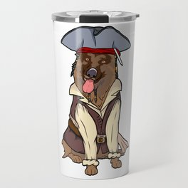 """Certified Dog Lover? Here's a cute t-shirt design with an illustration of """"GERMAN SHEPHERD"""" T-shirt Travel Mug"""