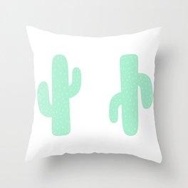 Cactus Pals Throw Pillow