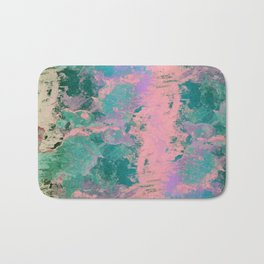 Pink and Green Paint Bath Mat