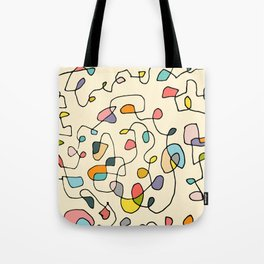 Abstract Lines and Colors Tote Bag