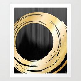 Gray and Gold 01 Art Print