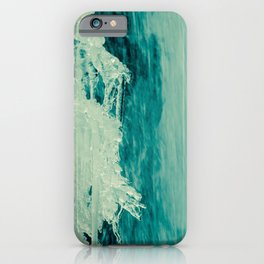 Ice and Falls Abstract Nature Photograph iPhone Case