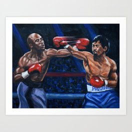 Floyd Mayweather VS Manny Pacquiao Art Print