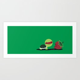 Strawberry Turtle Art Print