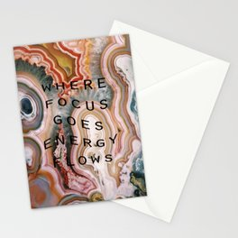 where focus goes energy flows Stationery Cards