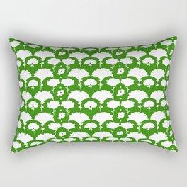 green silhouette garden Rectangular Pillow