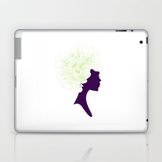 Rose Silhouette Laptop & iPad Skin