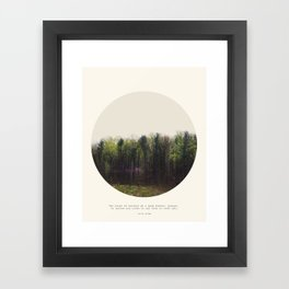 Dark Forest Framed Art Print