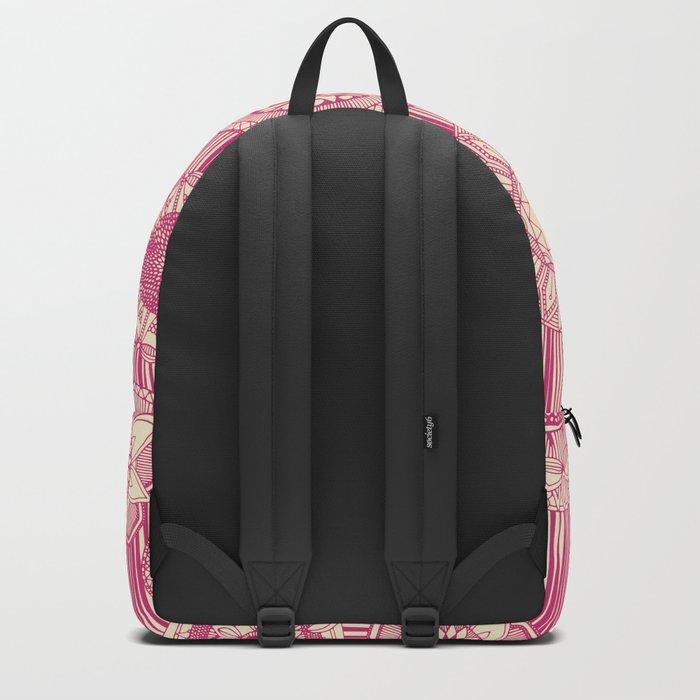 mandala cirque spot pink cream Backpack