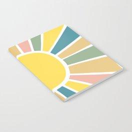 Retro Sunshine Notebook