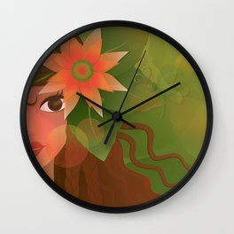 The Forest Girl Wall Clock