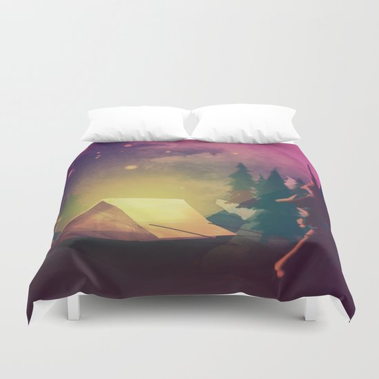 Night in th forest Duvet Cover