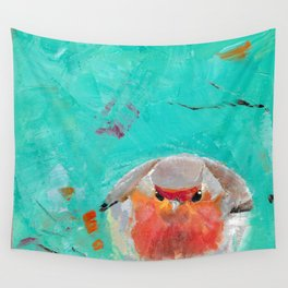 Robin Perched Wall Tapestry