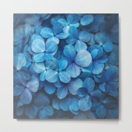 Fifty Shades of Blue Metal Print